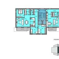 A3 - predaj skolaudovaného 4i bytu v centre Malaciek - Projekt Pioli
