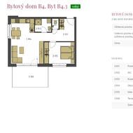 Predaj 2i bytu B4.3 s terasou a pozemkom vo vysokom štandarde